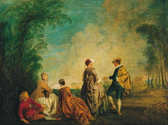 Antoine Watteau La Proposition embarrassante